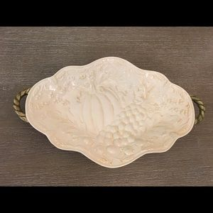 Festive Thanksgiving Style Small Serving Tray